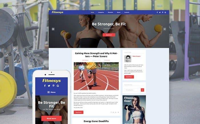 Fitnesys Gym Blog WordPress Theme
