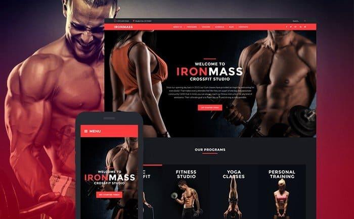 IronMass Gym Fitness WordPress Theme