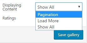 Pagination option.