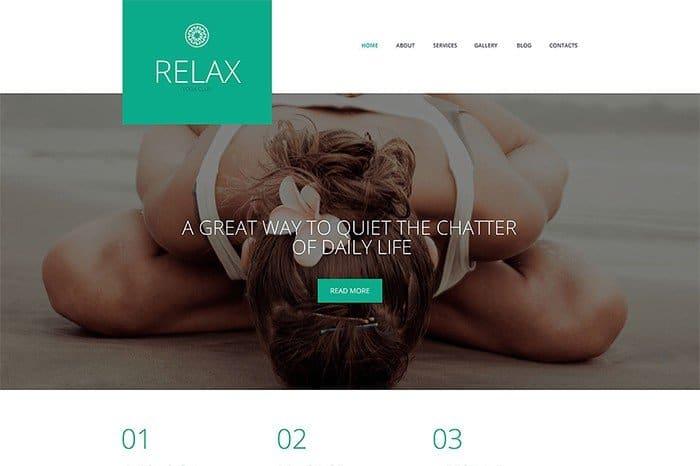 Relax Yoga Responsive WordPress Theme