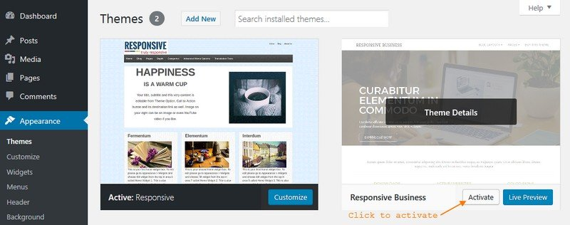 Responsive Business – Child WordPress Theme for Free Responsive