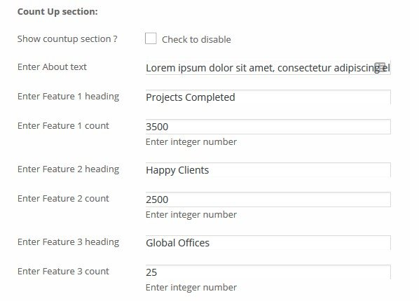 Responsive Business - Count Up section