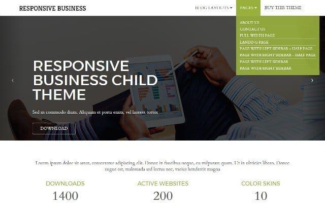 Responsive Business – Child WordPress Theme for Free Responsive