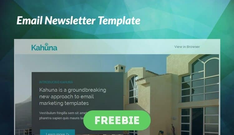 Free Email Newsletter template from Big Bang Themes