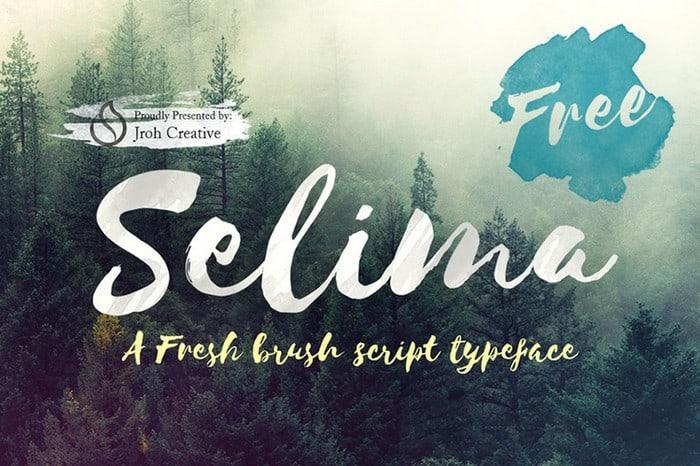 Beautifully Imperfect Free Brush Font – Selima