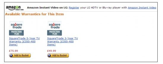 See how beautifully Amazon extended its Blu-ray service to buy the warranty too