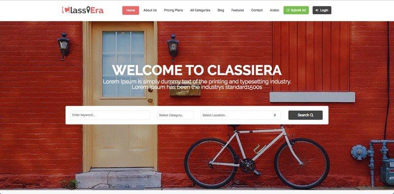 ClassiEra Review: The Classiest Classified Ads WordPress Theme