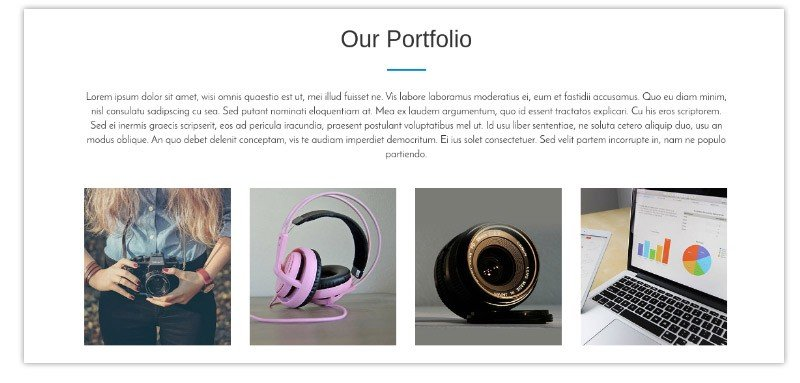 You can showcase your portfolio here.
