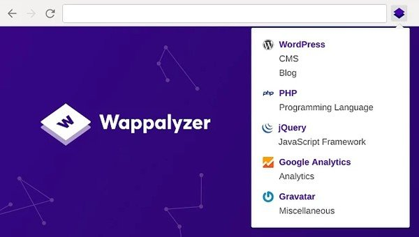 Wappalyzer is one of the oldest and therefore time-proven solutions