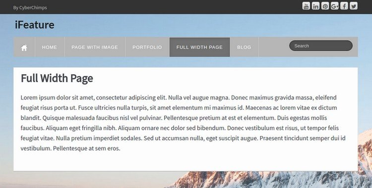 iFeature Full Width Page