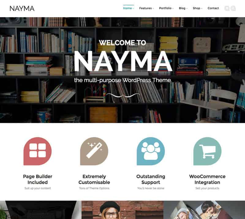Artisan Themes Giveaway - NAYMA is a multi-purpose WordPress theme perfect for different types of websites.