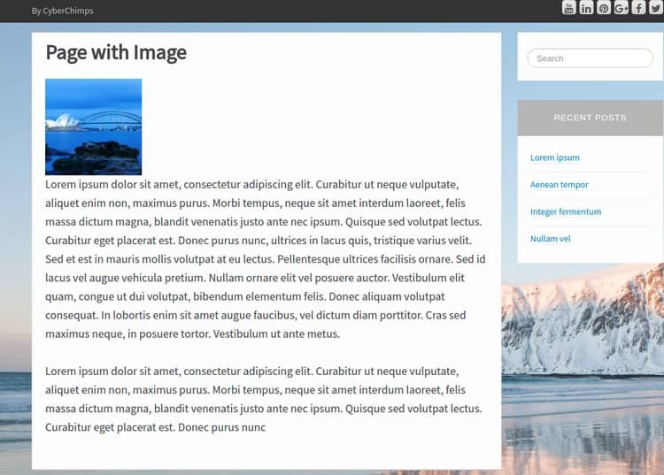 iFeature Page With Image
