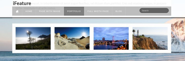 iFeature Free Multi-Purpose WordPress Theme - Portfolio