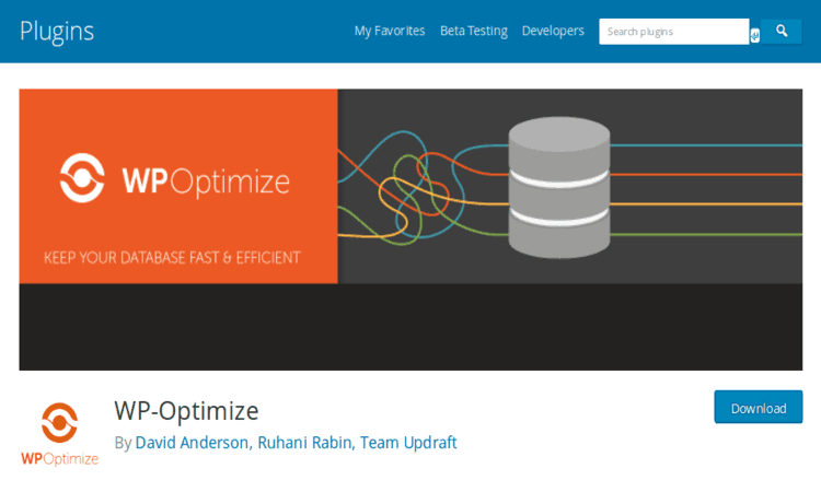 WP-Optimize helps you to keep your website neat and clean.