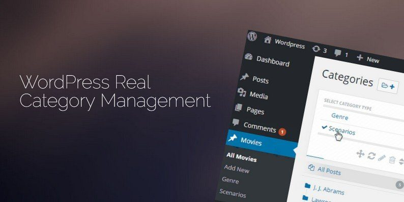 WordPress Real Category Management Plugin