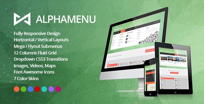 AlphaMenu is a jQuery mega menu plugin.