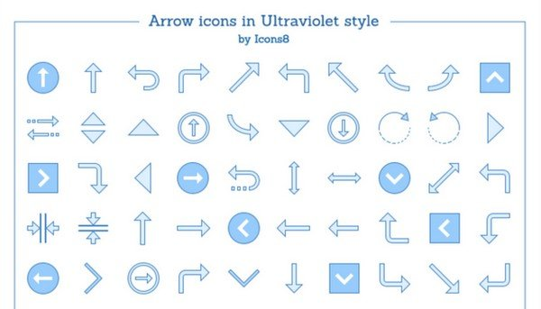 This freebie brings more than 90 icons ready to be used in projects as navigation elements.