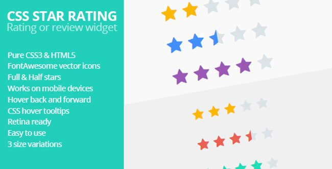 CSS Star Rating is a review or rating widget.
