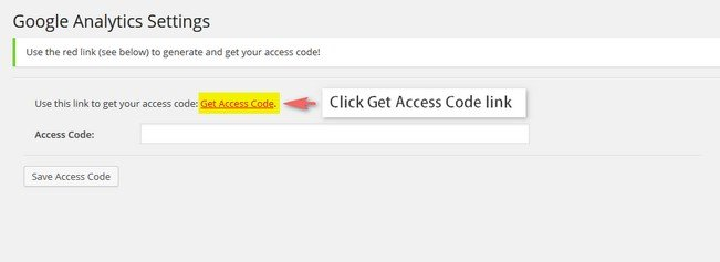 "Simply click on the ""Get access code"" as shown in the second image below and paste it in the blank space."