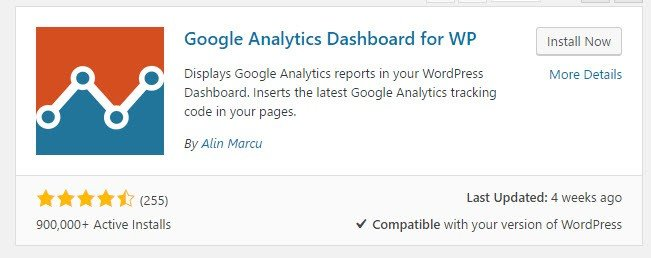 Second Step is to get the Google Analytics WP Dashboard plugin installed.