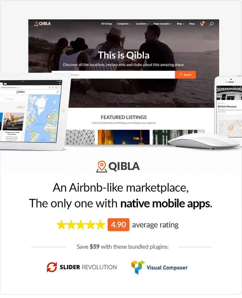 The story of Qibla The Superb WordPress Directory Theme.