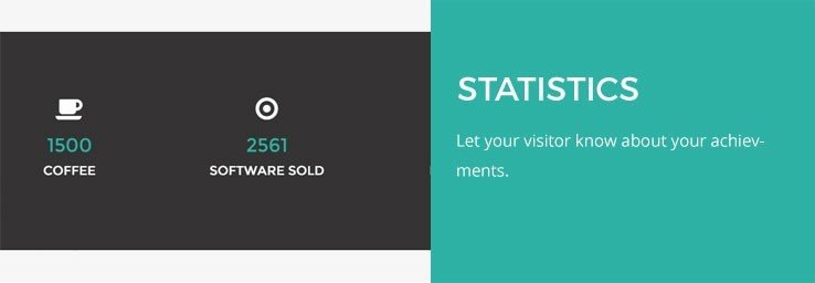 This one layout WordPress theme provides all the information within statistics.