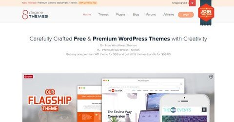 8degree Themes WordPress Themes