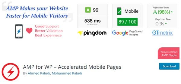 AMP for WP plugin gives you a bunch of options to customize your website's AMP version.
