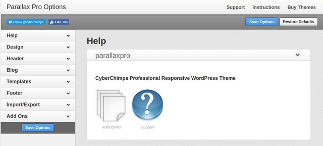 You can customize various aspects of the Premium Parallax Pro theme.