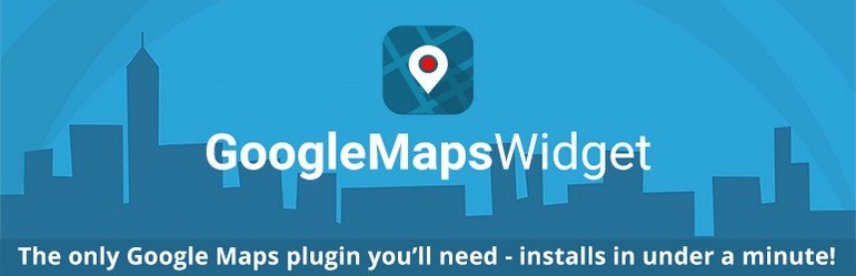 The Google Maps Widget will allow you to add a map to your website's sidebar.