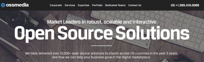 The key focus of OSSMedia is end-to-end WordPress solutions.