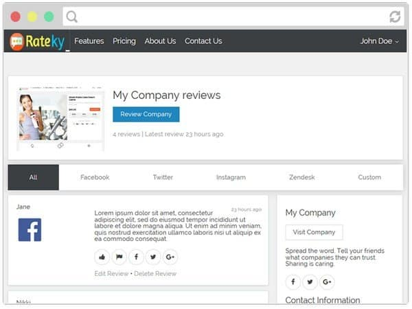The plugin lets you automatically import customer reviews from Facebook, Twitter, Instagram, Zendesk