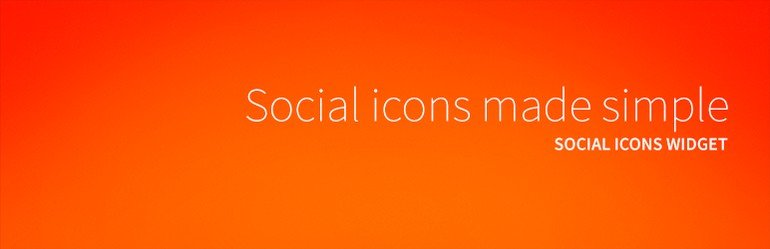 his widget will display social links to the social media profiles in WordPress.