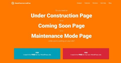 UnderConstructionPage WordPress Plugin