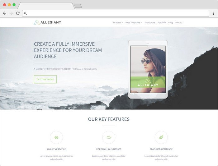 Allegiant is really popular because of it's perfectly built for users looking for an amazing business WordPress theme.