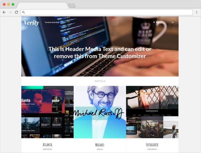 Verity Pro is a modern blog and portfolio theme with an ultra-clean and stylish, elegant design.