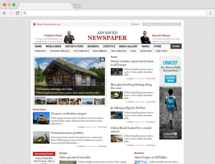 With Advance Newspaper you can set up and run your very own e-newspaper site just in matter of minutes only.