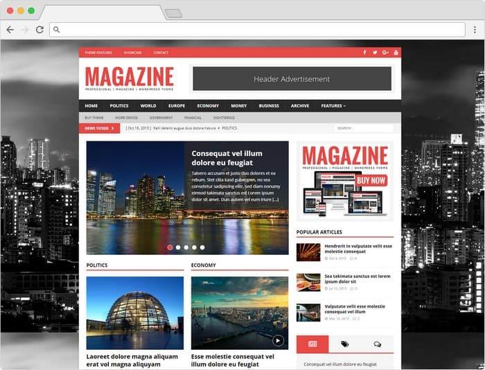 MH Magazine WordPress Theme