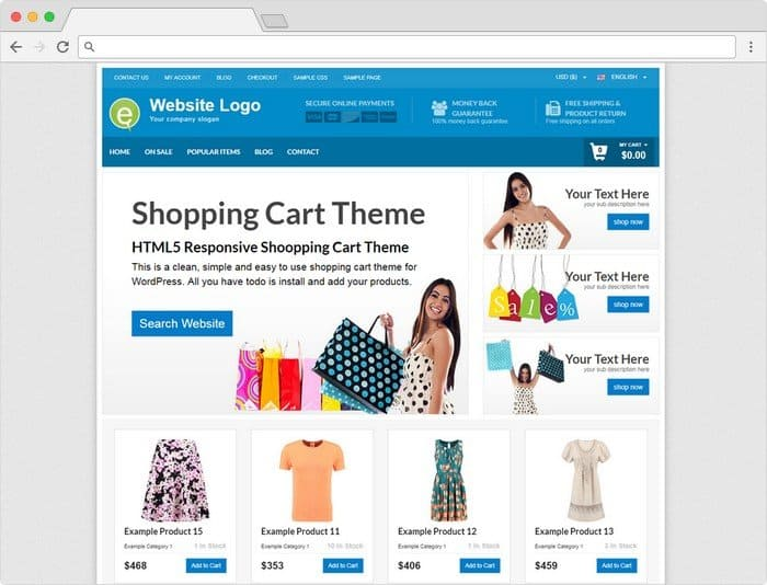 Best Selling WordPress Themes 2017? - PremiumPress Shopping Cart Theme is very popular.