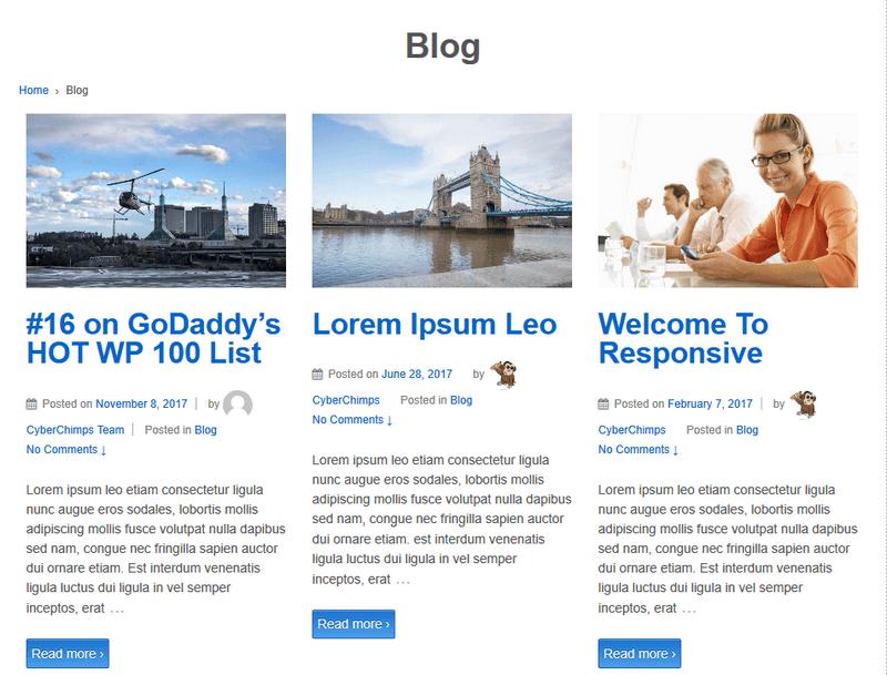 3 Column Blog Layout.