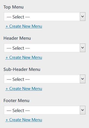 Show various menus with different menu items at 4 different locations on your WordPress site.
