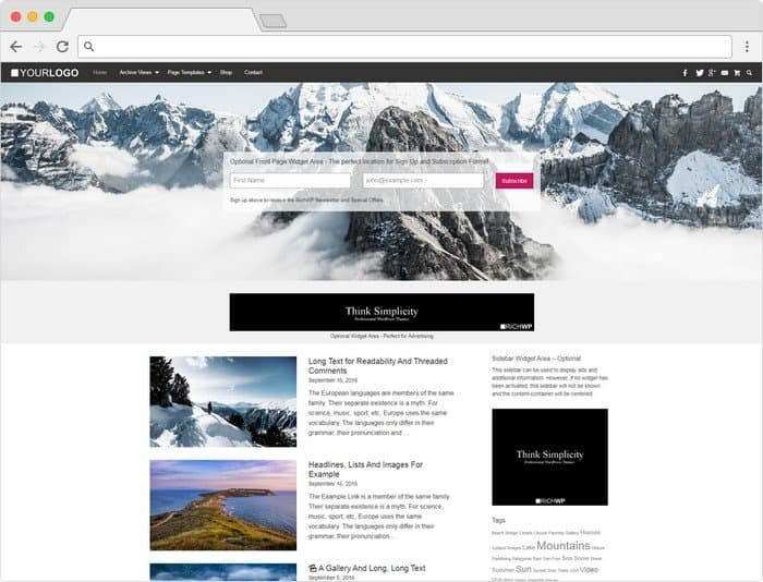 Rich Master Theme: is a straight out blogging theme.