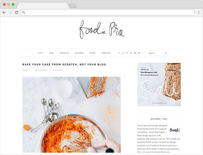 Foodie Pro is the most flexible Genesis Theme to date-with a minimalist style
