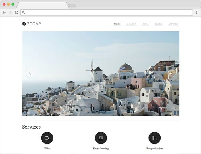 Zoomy is a Professional Photography WordPress Theme.