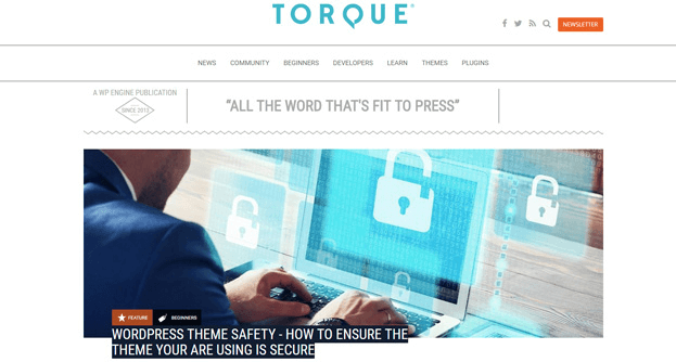 Torque is another resource that delights WordPress users.