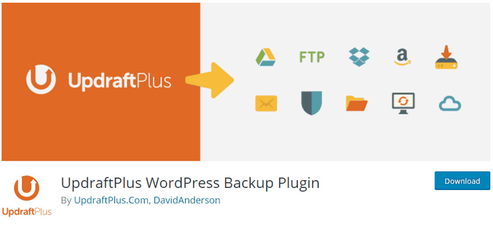 UpDraftPlus permits you to create your backup and keep it safely in the cloud storage..