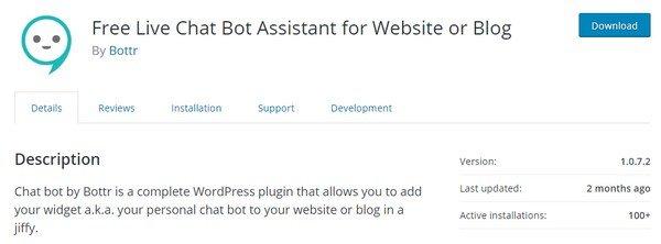 Install the Bottr WordPress plugin.