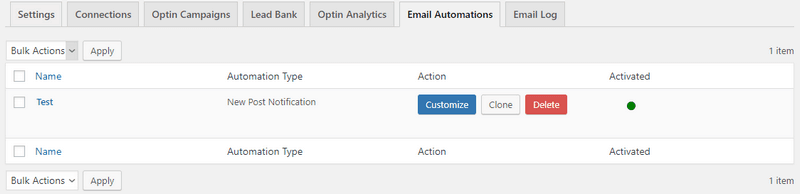 Using MailOptin, you can trigger the automatic sending of emails to users on your list.