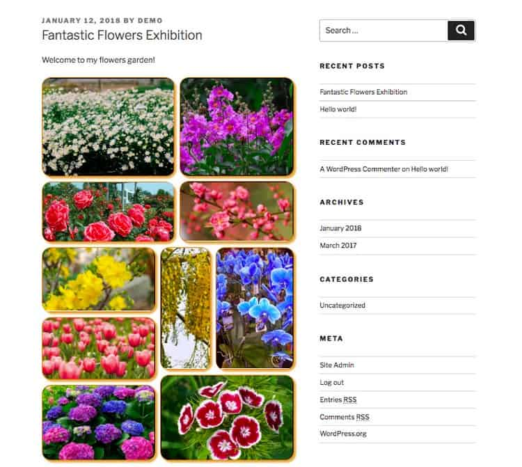 A gallery about flowers.