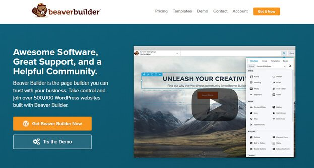 Beaver Builder works with any theme and is mobile-friendly.